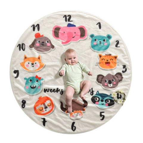 Animal Friends Milestone Blanket