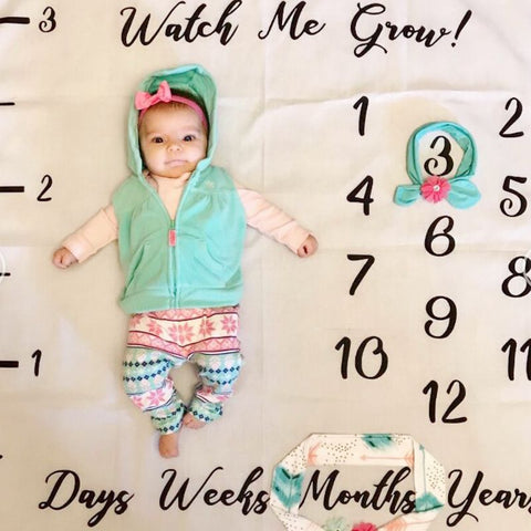 Watch Me Grow Milestone Blanket