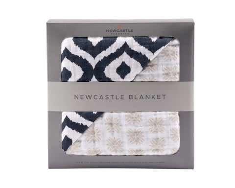Morrocan Blue And Traveler Dot Newcastle Blanket