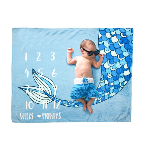 Mermaid Milestone Blanket