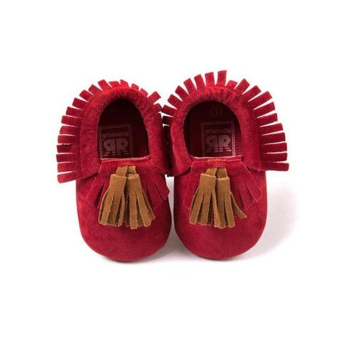 Toddler Baby Kids Tassel Soft Sole Prewalker Shoes