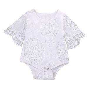Lovely Girls White ruffles lace Romper - Infant Route