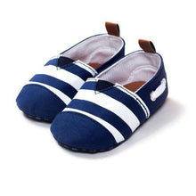 "Baby Boys First Walkers Shoes ""Striped Loafer"" - Infant Route"
