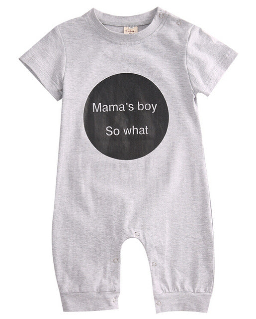 "Mama's boy ""so what"" Romper"
