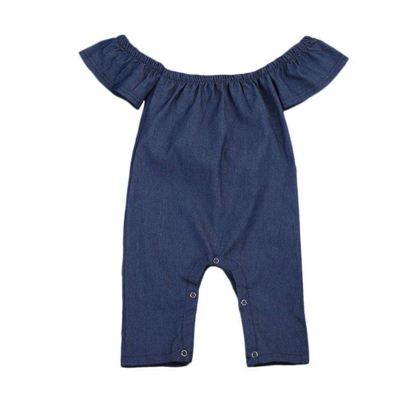 Denim Off Shoulder Romper - Infant Route