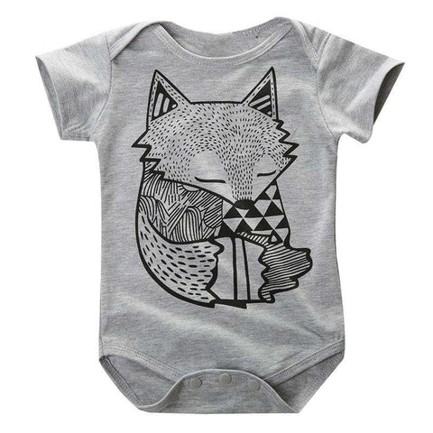 Fox Print Romper - Infant Route