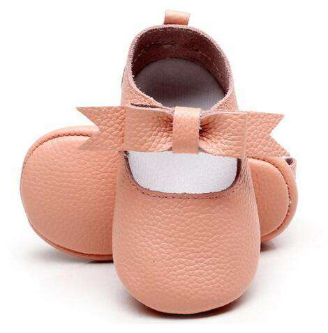 leather Fashion Bow baby girl shoes - Infant Route