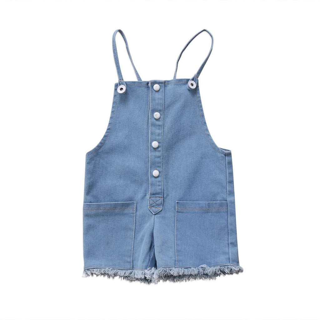 Sleeveless button Denim Romper - Infant Route