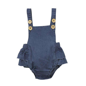 Denim Sleveless Romper - Infant Route