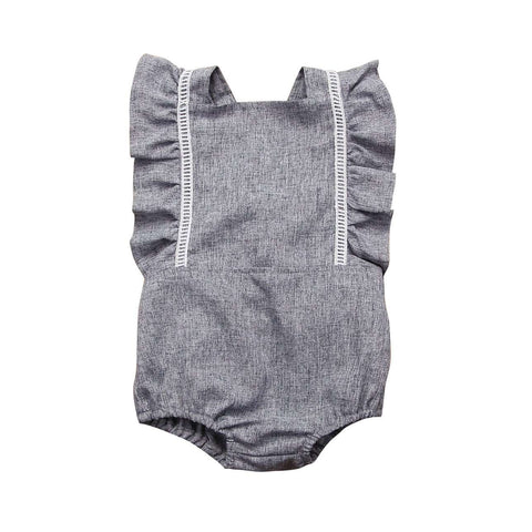 Backless Summer Ruffles Sleeveless Romper - Infant Route