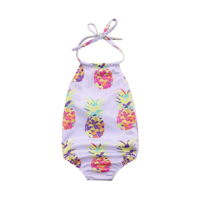 Pineapple Printed Backless Strap Beachwear - Infant Route