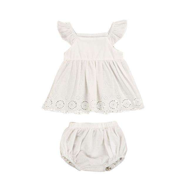 All White Tea Party Outfit - Infant Route