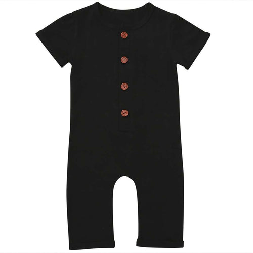 Short Sleeve Button Romper - Infant Route