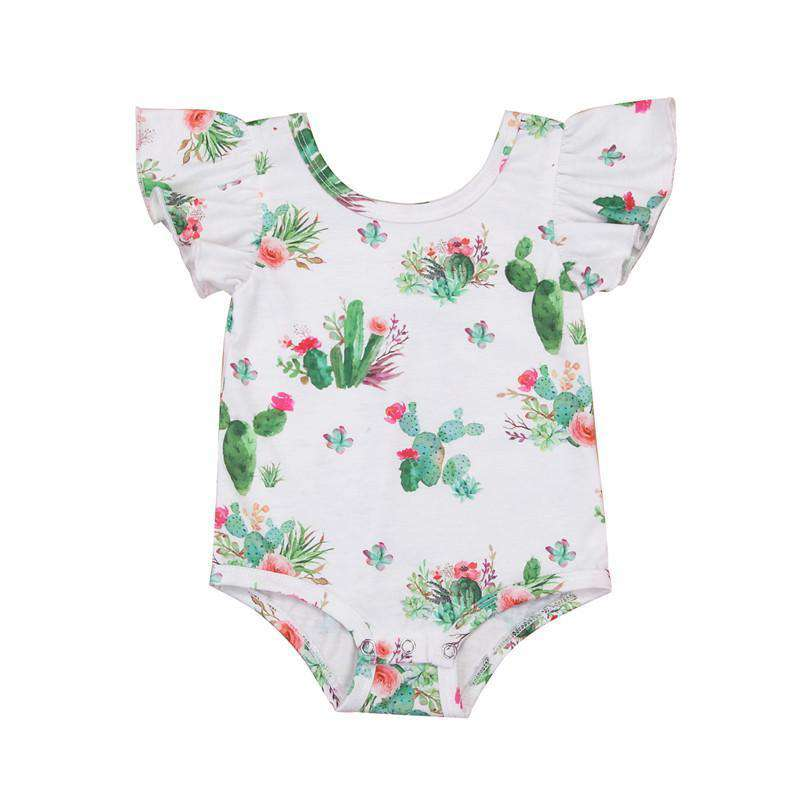 Short Sleeve Floral Cactus Bodysuit - Infant Route