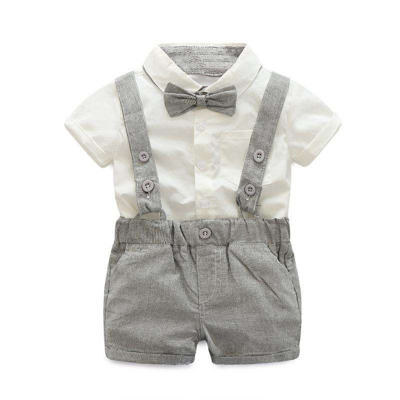 Formal Tie + Short Shirt + Overalls - Infant Route