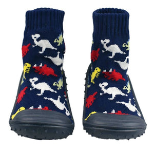 Dino Socks With Rubber Soles