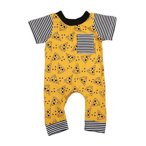 Yellow Pizza Print Jumpsuit