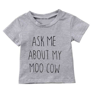 """Ask me about My Moo Cow"" T-shirt - Infant Route"