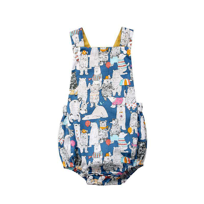 Sleeveless Polar Bear Baby Romper