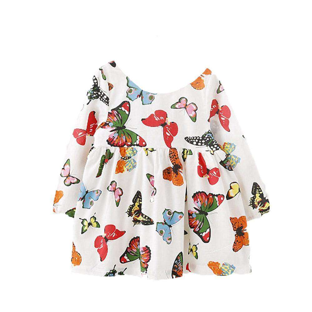 Muti Color Butterfly Dress - Infant Route