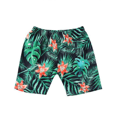 Boy leafs print Beach Swim Shorts - Infant Route