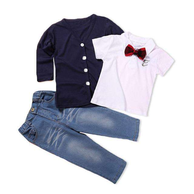 3 Pcs Bow tie Gentleman Suits - Infant Route