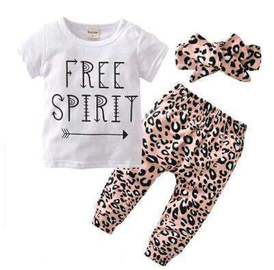 """Free Spirit""Shirt w. leopard pants and headband - Infant Route"