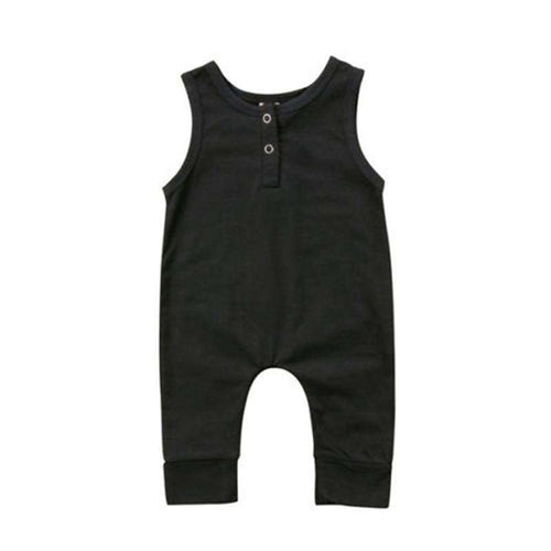 Plain All Black Romper - Infant Route