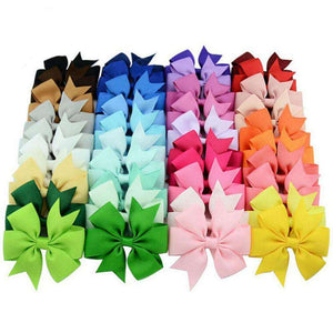 40pcs/lot Ribbon Hair Bows