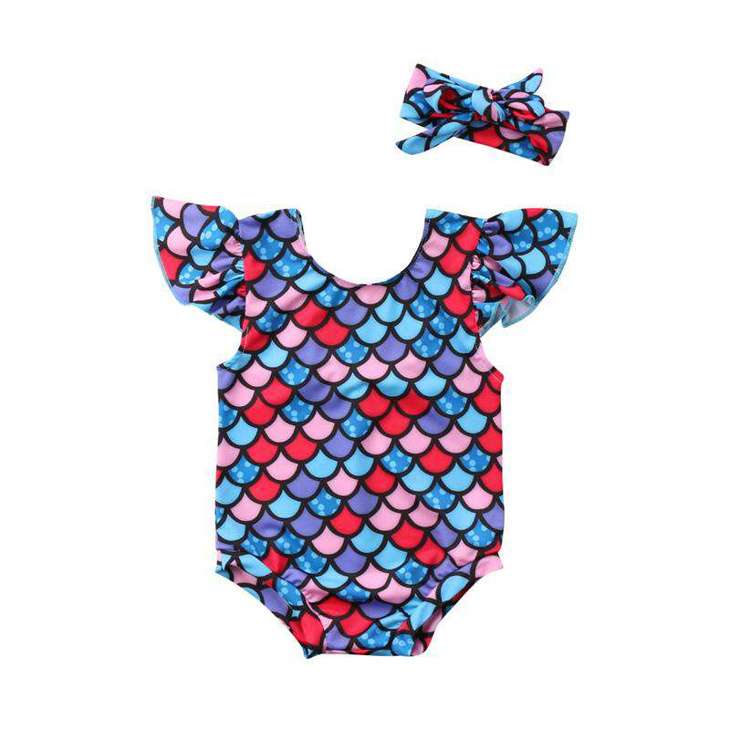 Toddler  Sleeveless Mermaid One-Piece Swimwear - Infant Route