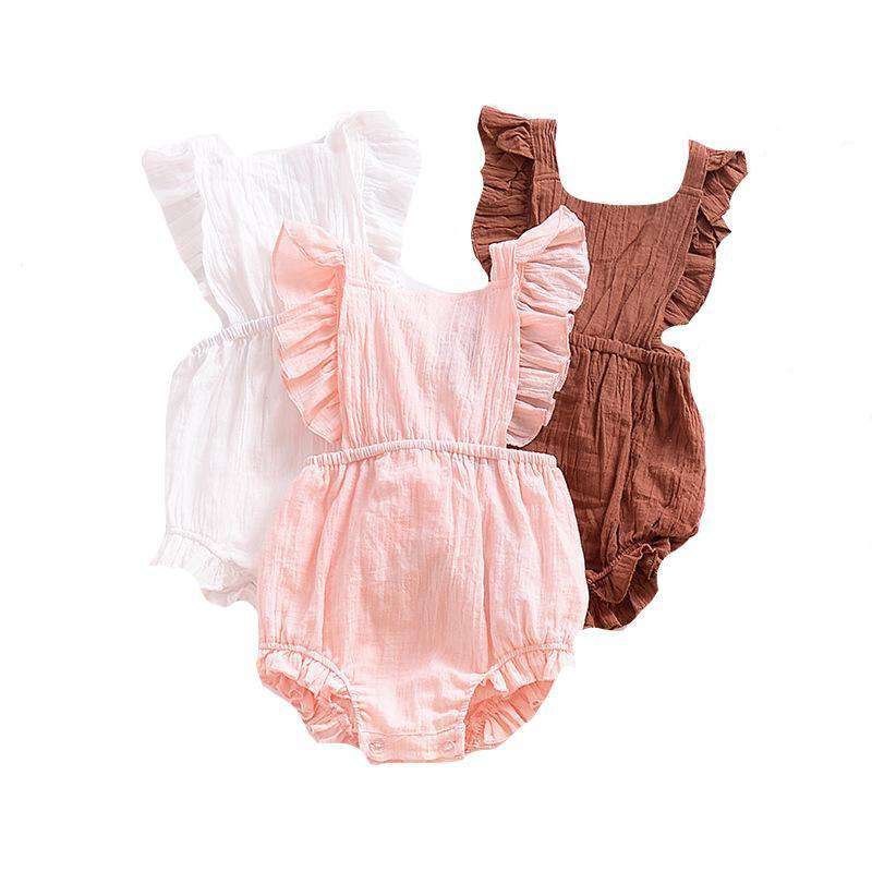 Ruffle Cross Straps Romper - Infant Route