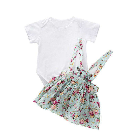 Baby Girls Jumpsuit Romper & Skirt Set - Infant Route