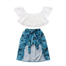 Blue Floral Short/Skirt Sunsuit