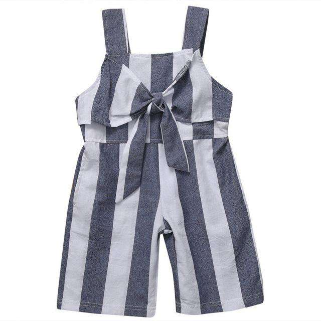 Fashion Bow Striped Romper - Infant Route