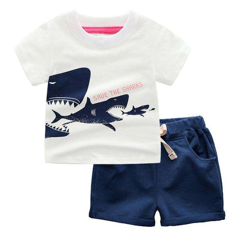 Save The Shark Outfit Set - Infant Route
