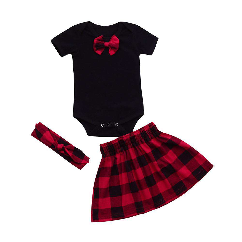 Plaid From Head To Toe Outfit - Infant Route