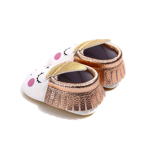 Blush Unicorn moccasins