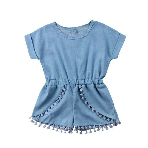 Short Blue Romper