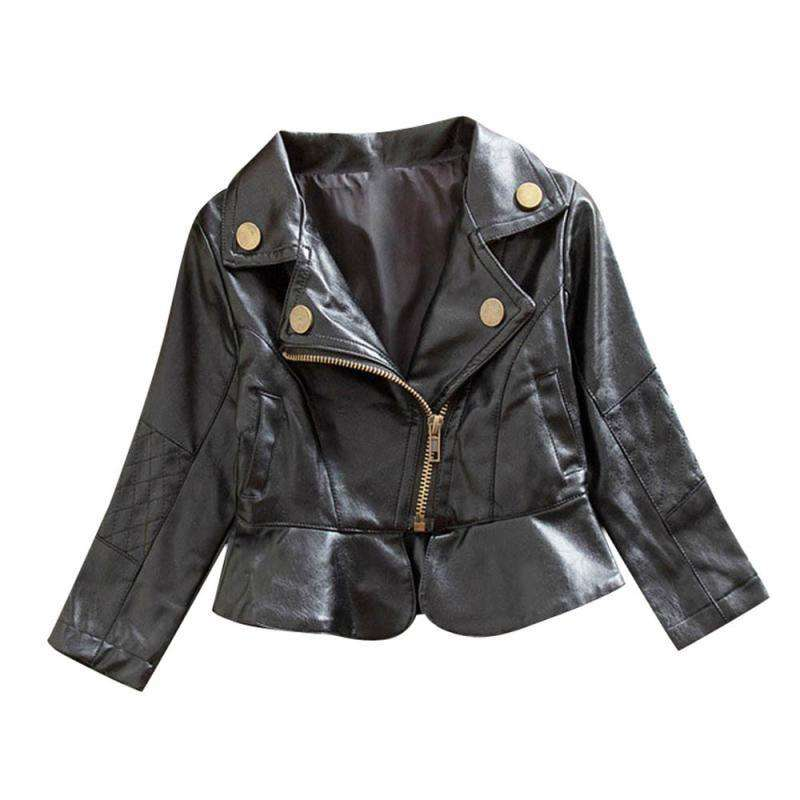 Girls Leather Zipper Jacket - Infant Route