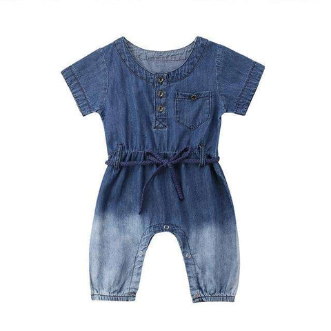 Sleeve Button Romper - Infant Route