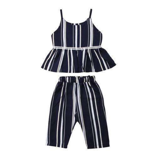2 Piece Striped Sunsuit Set - Infant Route