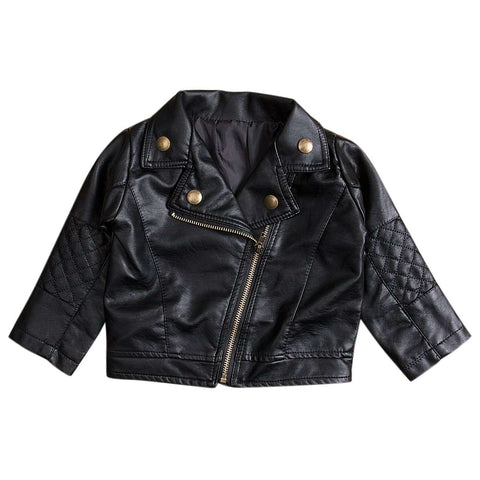Black Leather Biker Jacket - Infant Route
