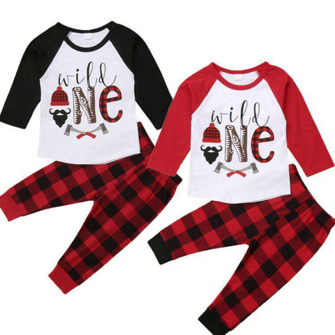 Wild ONE Plaid Set