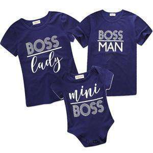 Family matching Boss Tees / Romper