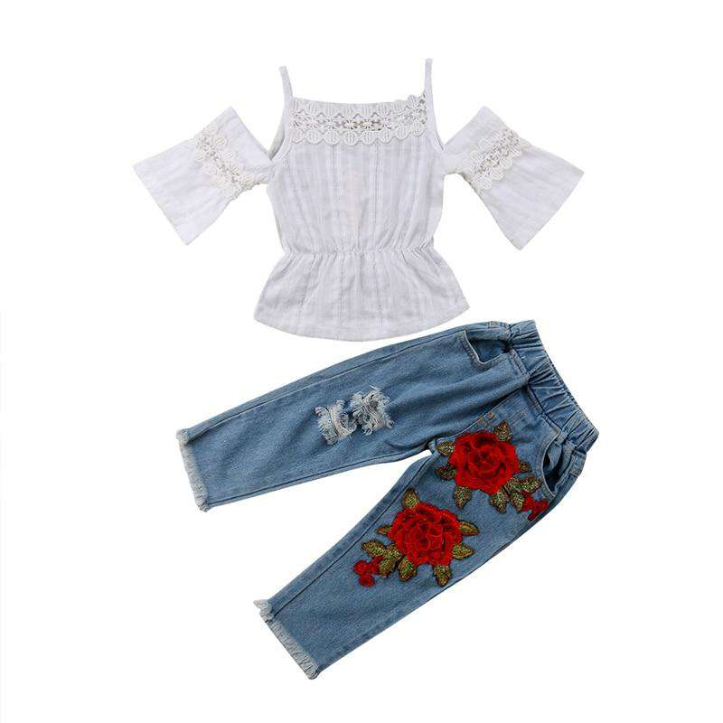 Lace Tops Rose Denim Outfits