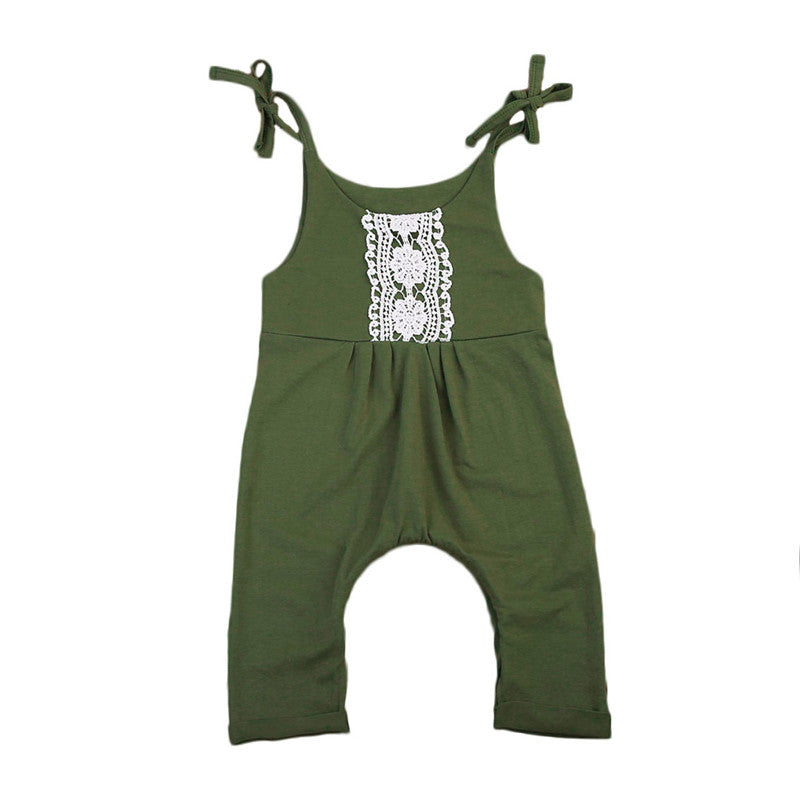 Sleeveless Army Green Romper