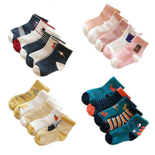Cartoon Socks, 5 Pack