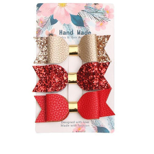 3 Pcs Sequin Hair Clips Bows
