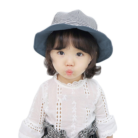 Baby Solid Color Bucket Cap Reversible