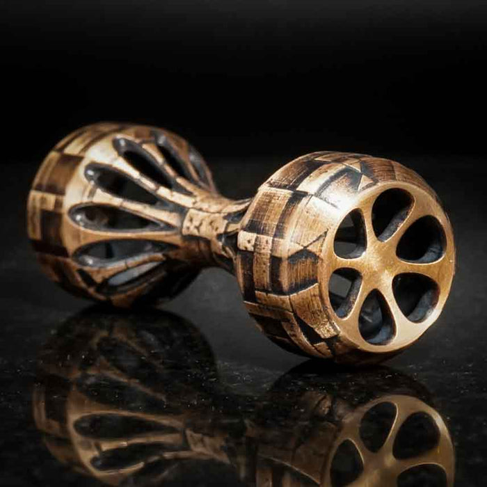 Thumbbell Ruins Edition - Brushed Bronze Knuckle Roller